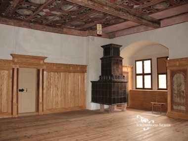 The Red Lounge at Rochlitz Castle